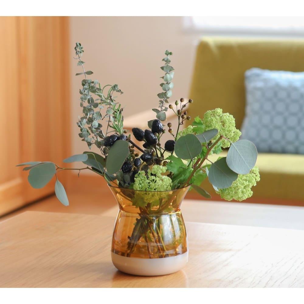 フラワーベース Plakira flowers (花束用) (エ)イエロー