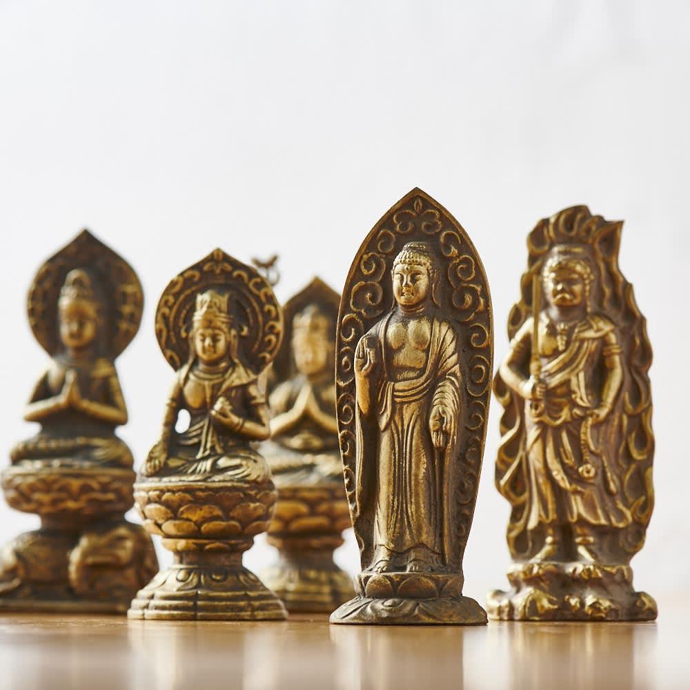 ミニ仏像 八体仏 イヌ・イノ アミダニョライ 置物・オブジェ・花瓶