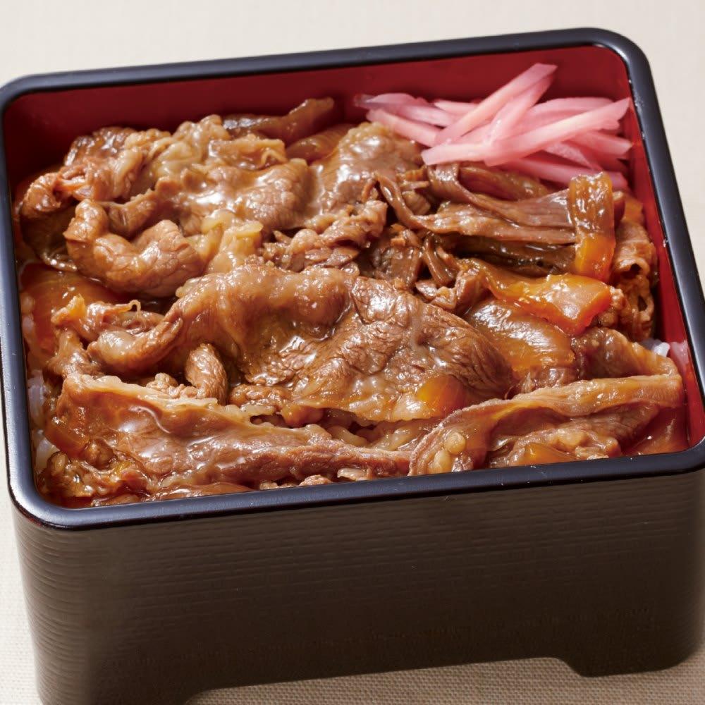 道産牛の牛丼の具 (190g×7袋) 【盛り付け例】
