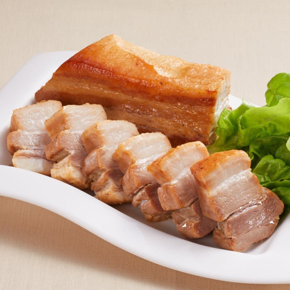 ジャンボ豚バラつるし焼き (約450g×1袋) 【盛り付け例】