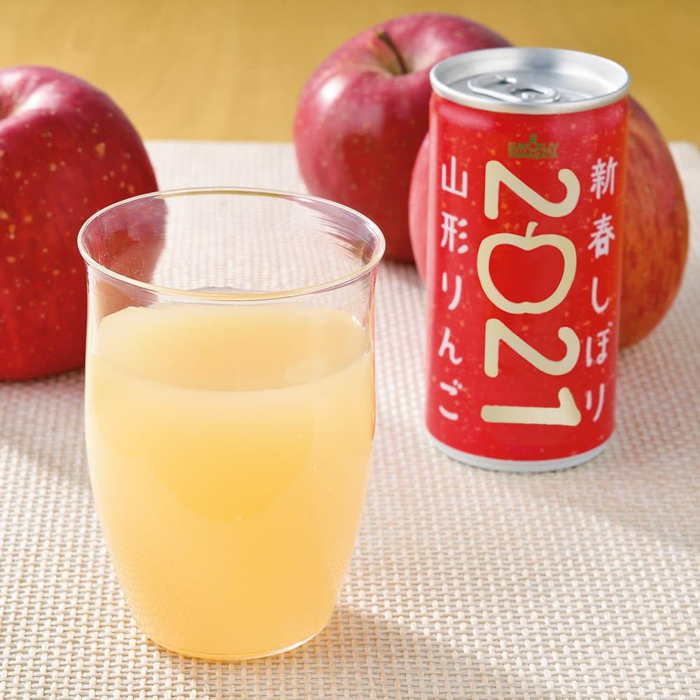 山形りんご 2021新春しぼり (190g×30缶) FD2905