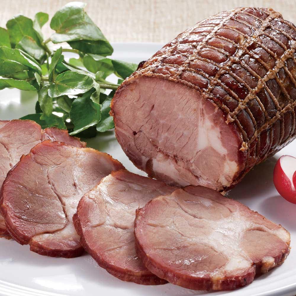トンデンファーム 炭火焼 焼牛と焼豚セット 【盛り付け例】焼豚