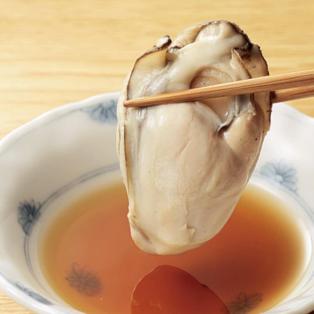 広島県産蒸し牡蠣 (300g)×1袋 【調理例】ポン酢で