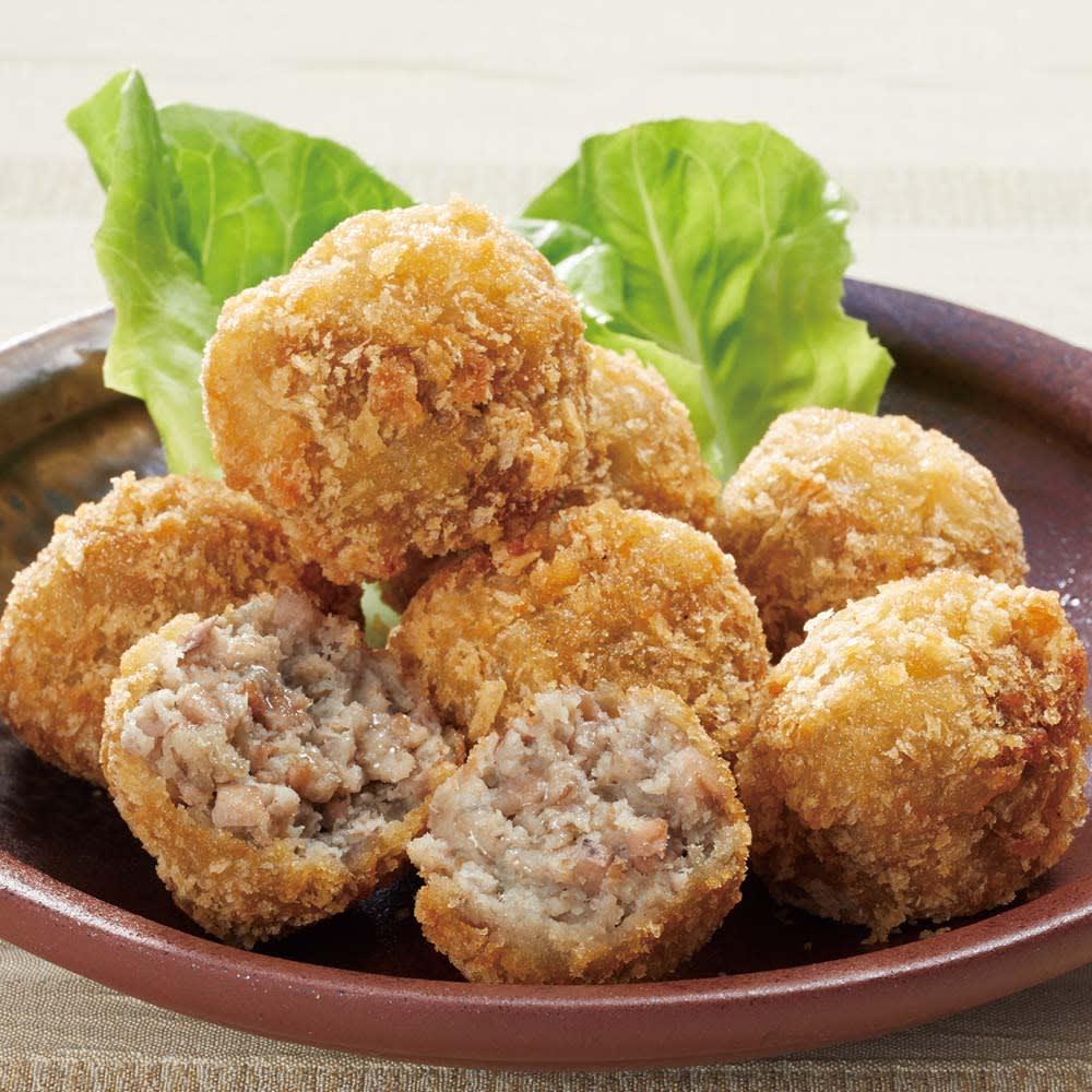 里芋とレンコンのひとくちコロッケ (8個)×3袋 【調理例】