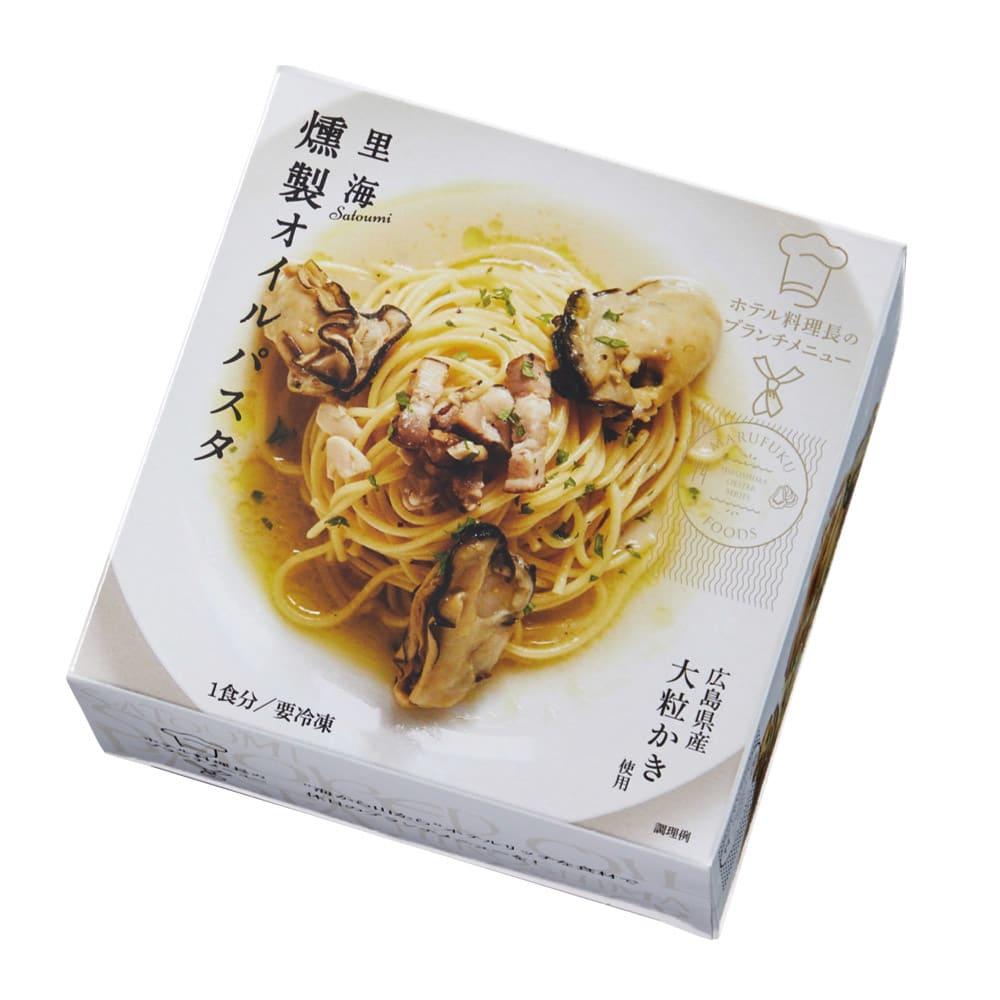 広島産かきの燻製オイルパスタ (225g×4箱) お届けパッケージ