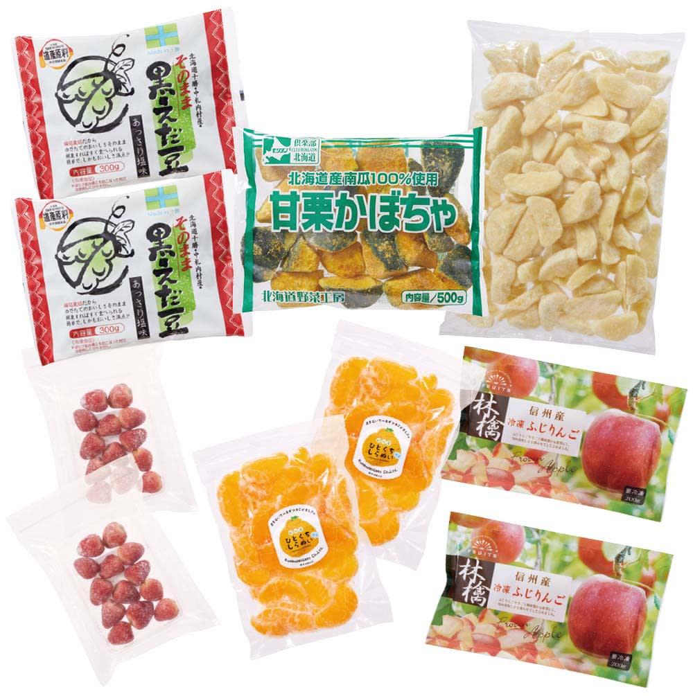 国産野菜とフルーツの6種セット お届けパッケージ