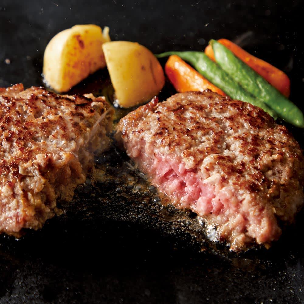 米沢牛のジューシー生ハンバーグ (150g×4個) 【調理例】