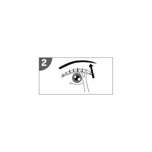 かづきれいこ アイデザインペンシル 約20秒後、プッシャーで目安のラインを軽く抑え目を開けます。