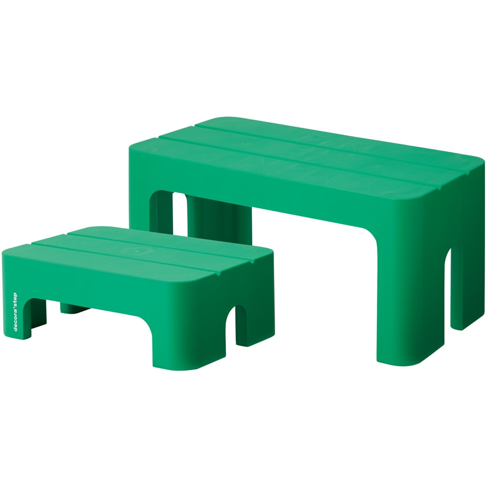 新デコラステップ S・L2個組 (ウ)グリーン