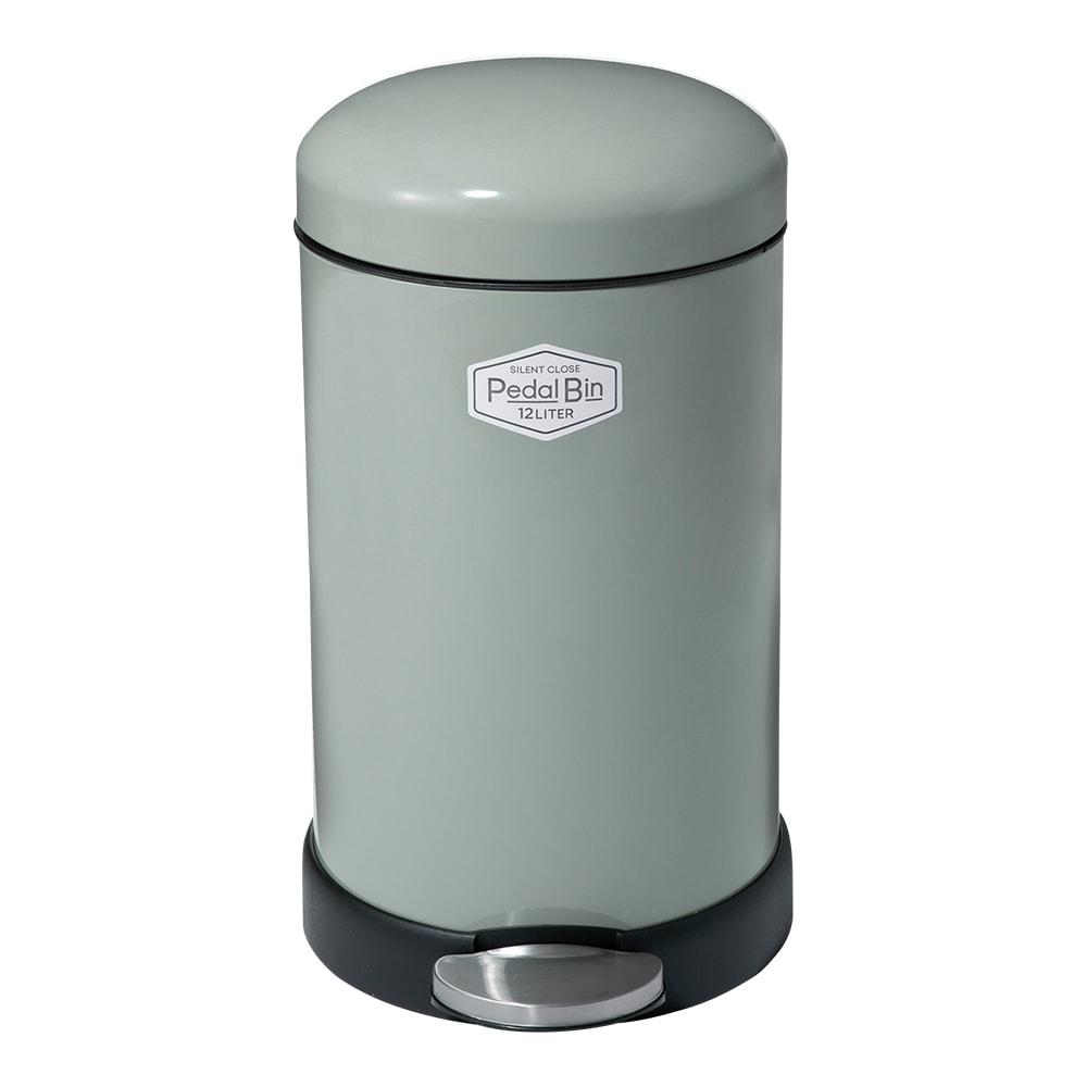 NEWサイレントクローズペダルゴミ箱 (ア)グレー