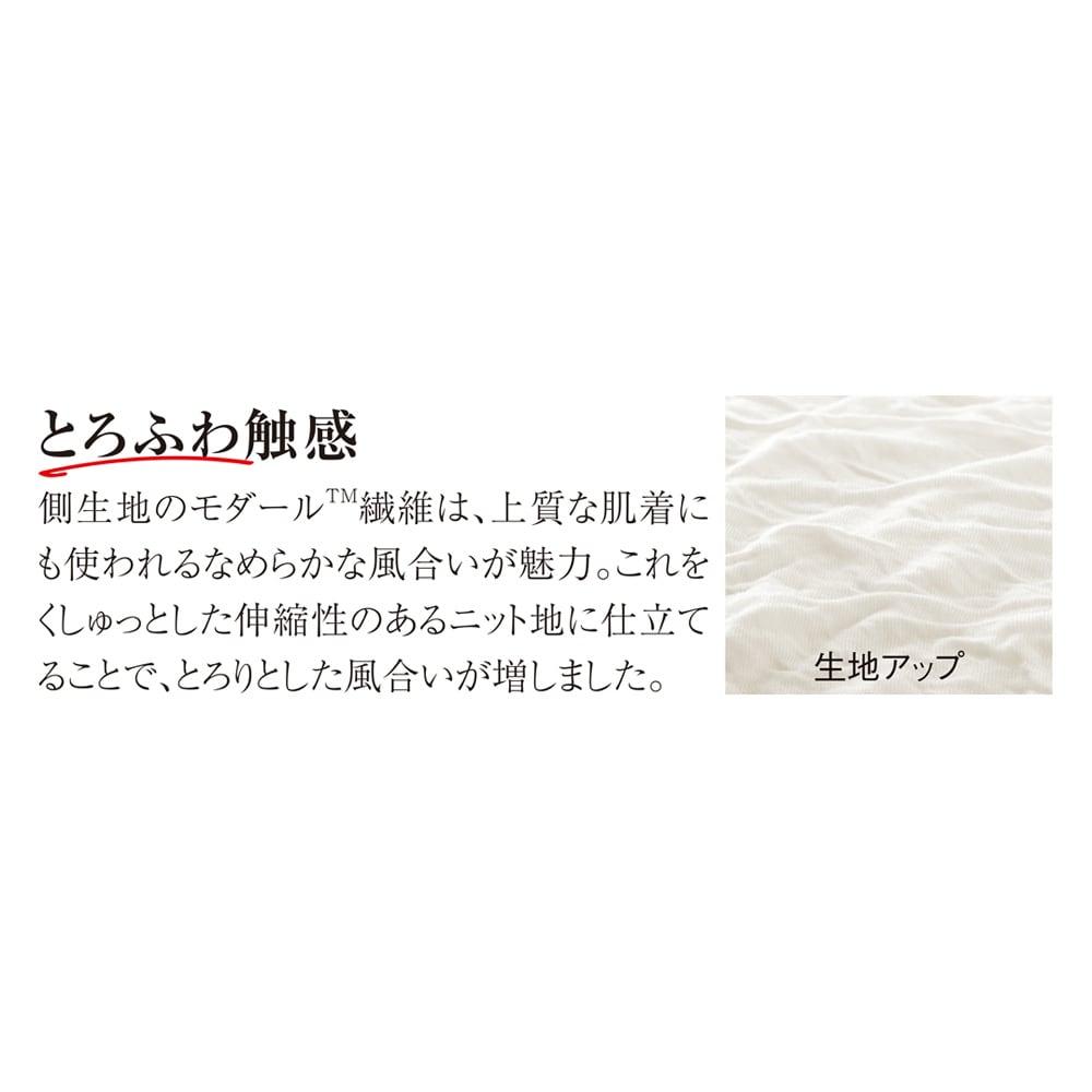 シングル(とろふわモダールシリーズ 掛け布団) (ウ)ホワイト 生地アップ 「好相性のテンセルTMとモダールTMでやわらか」