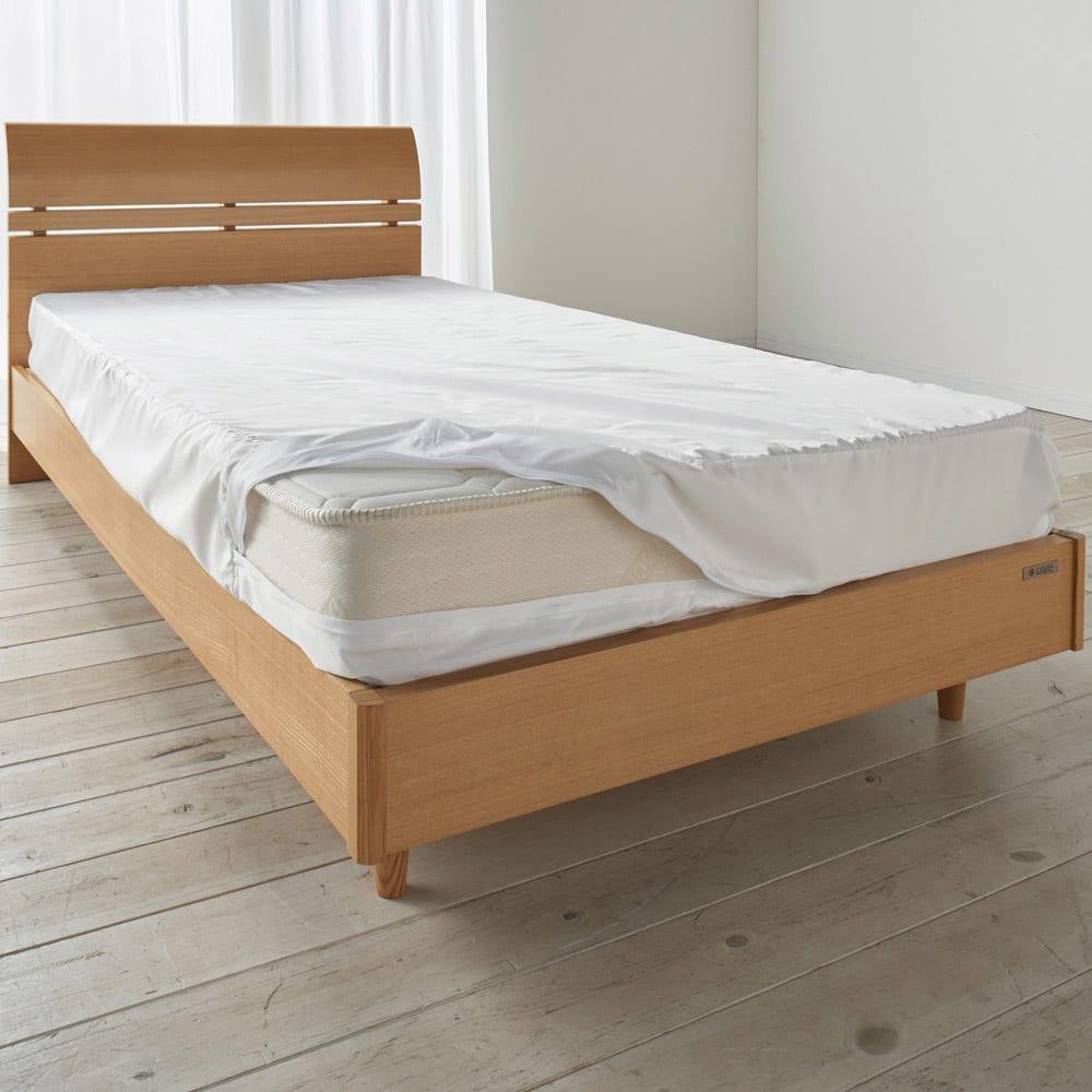 シングル(ミクロガード(R)防ダニ用寝具プロテクター マットレス用) お使いのマットレスの上に防ダニカバーをセットし、その上にカバーリングをしてお使いください!