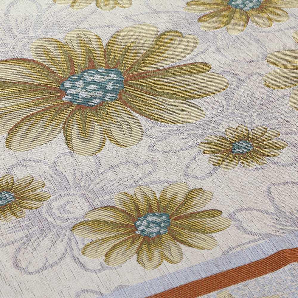 約140×200cm(イタリア製ジャガード織ラグ マーガレット) (ア)ベージュ