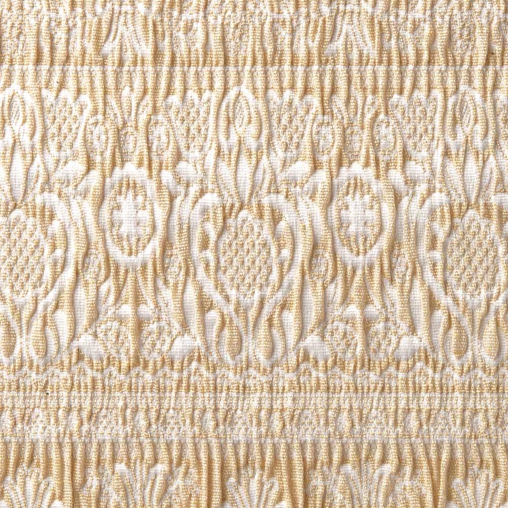 スペイン製フィットカバー「カーシャ」 ソファカバー アーム付き 素材アップ(ア)ベージュ