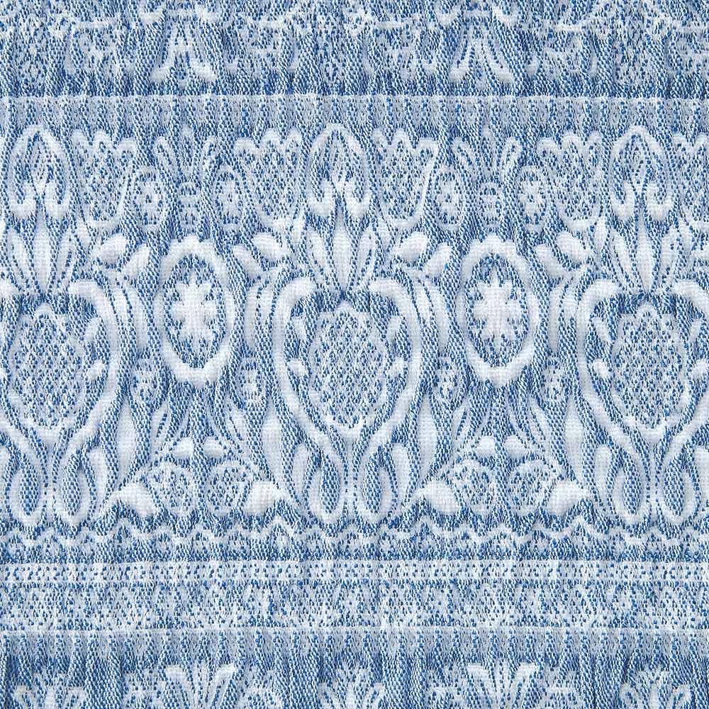 スペイン製フィットカバー「カーシャ」 ソファカバー アーム付き 素材アップ(エ)ブルー