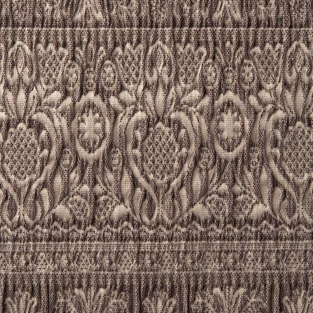 スペイン製フィットカバー「カーシャ」 ソファカバー アーム付き 素材アップ(イ)ブラウン