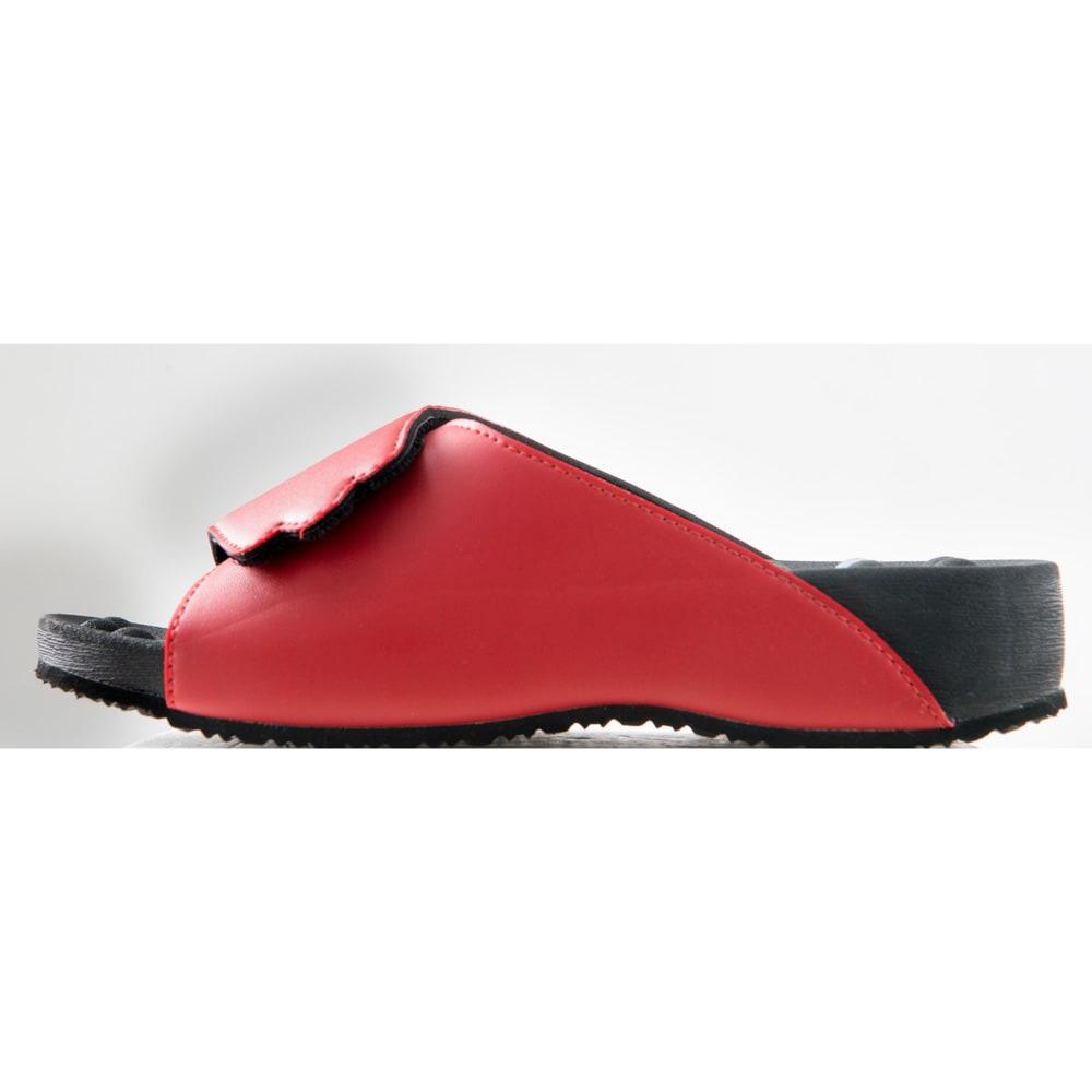健康サンダル シリコンマグ つま先を約1.5cm上げた構造で歩きやすくつまずきにくい。底はフローリングでも滑りにくいラバースポンジです。ヒールの高さは約4cm。
