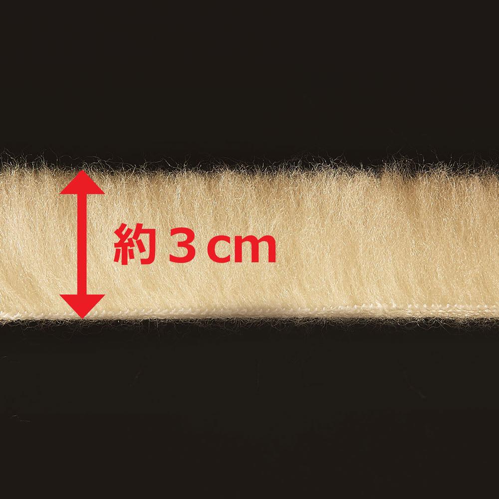 ザプレミアムソフゥール掛け毛布 毛足はベストバランスの約3cm◎