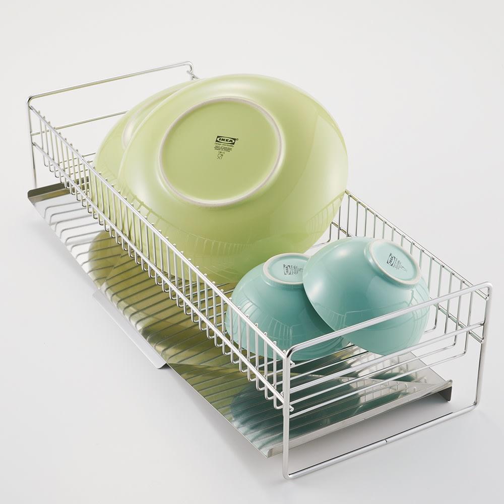 hanauta ハナウタ 皿を縦にも横にも置ける水切り ワイド ピンクゴールド 【従来品】 茶碗など丸いものは立てかけることが困難です。