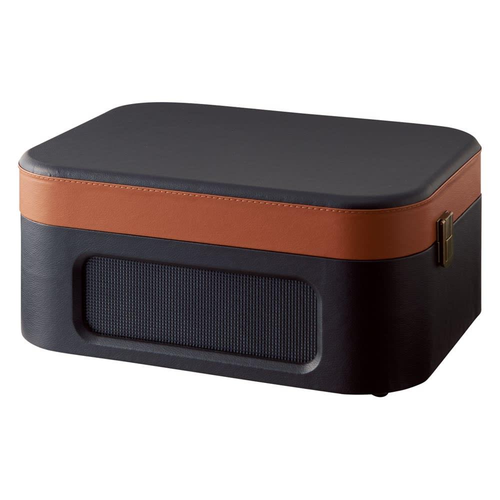 LIMON トランク型レコードプレーヤー (イ)ブラウン×ブラック