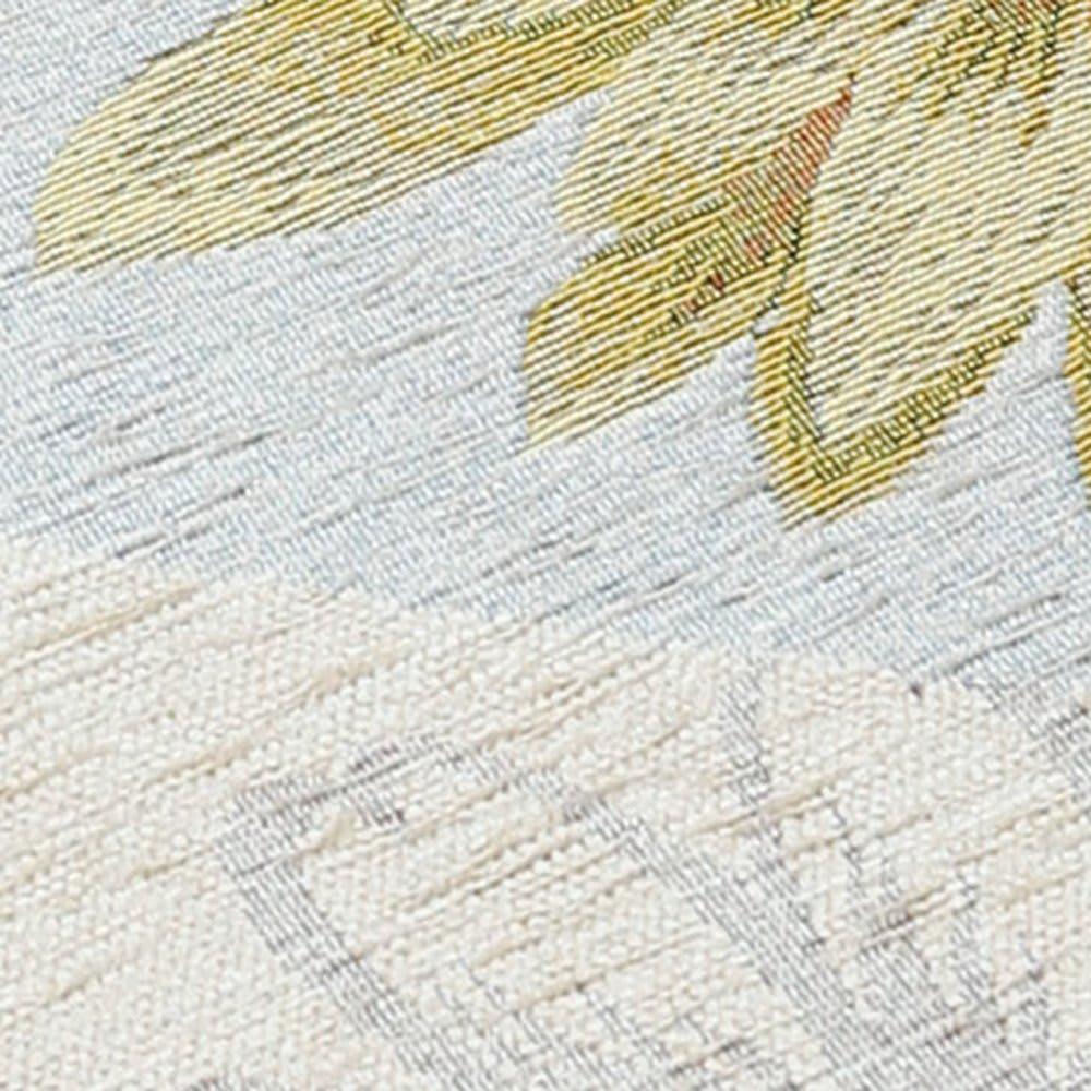 イタリア製シートクッション〈マーガレット〉 素材アップ (ア)ベージュ