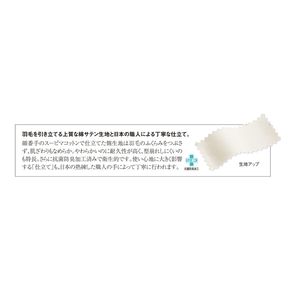 5つ星ラベル☆☆☆☆☆「真羽毛」という称号を得た羽毛を採用 「まごころ UMOU FUTON(羽毛布団)」掛け布団 衛生的に使える抗菌防臭加工を側生地に施しました。