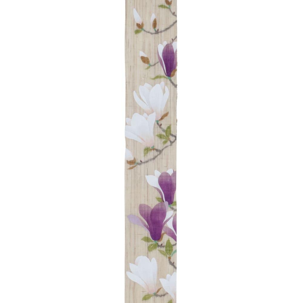 〈京都洛柿庵〉細タペストリー 春の花 ※2点以上5%オフ (イ)木蓮 春に咲く紫木蓮と白木蓮との共演で、華やかなイメージ。