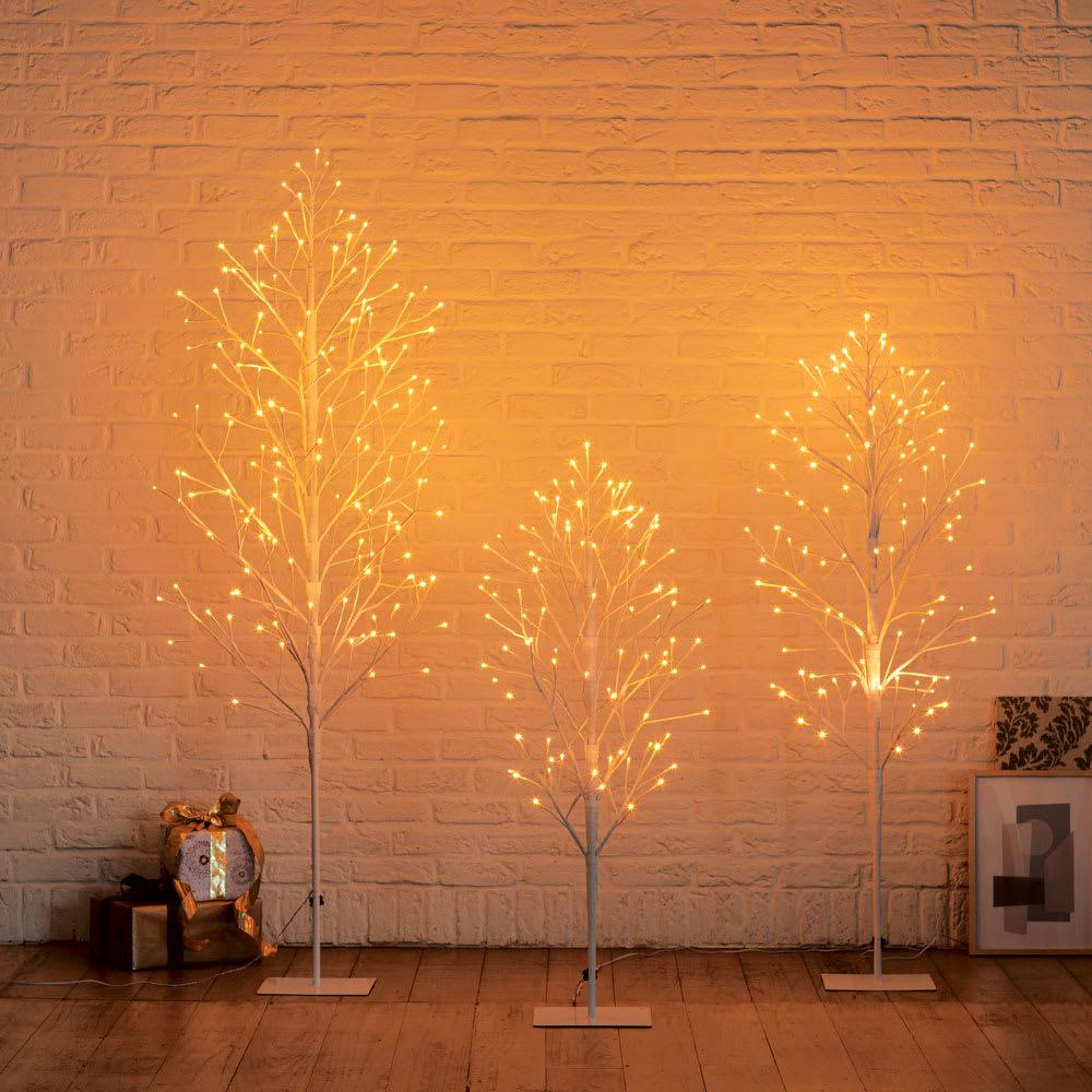 屋内外兼用 LEDツリー(奥行25cm) 左から、L、S、M