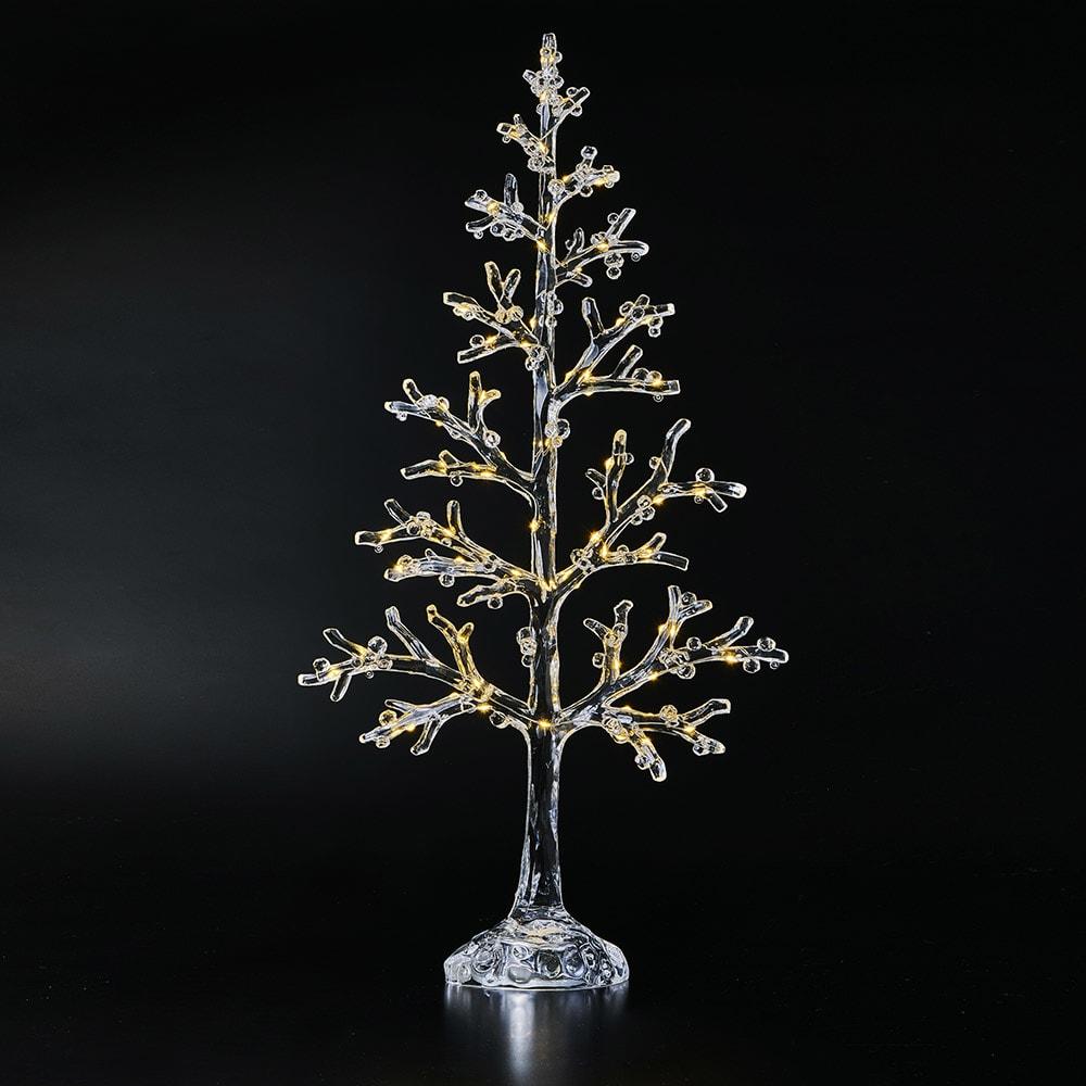 〈ハルモニア〉アクリルLEDテーブルツリー (点灯時)