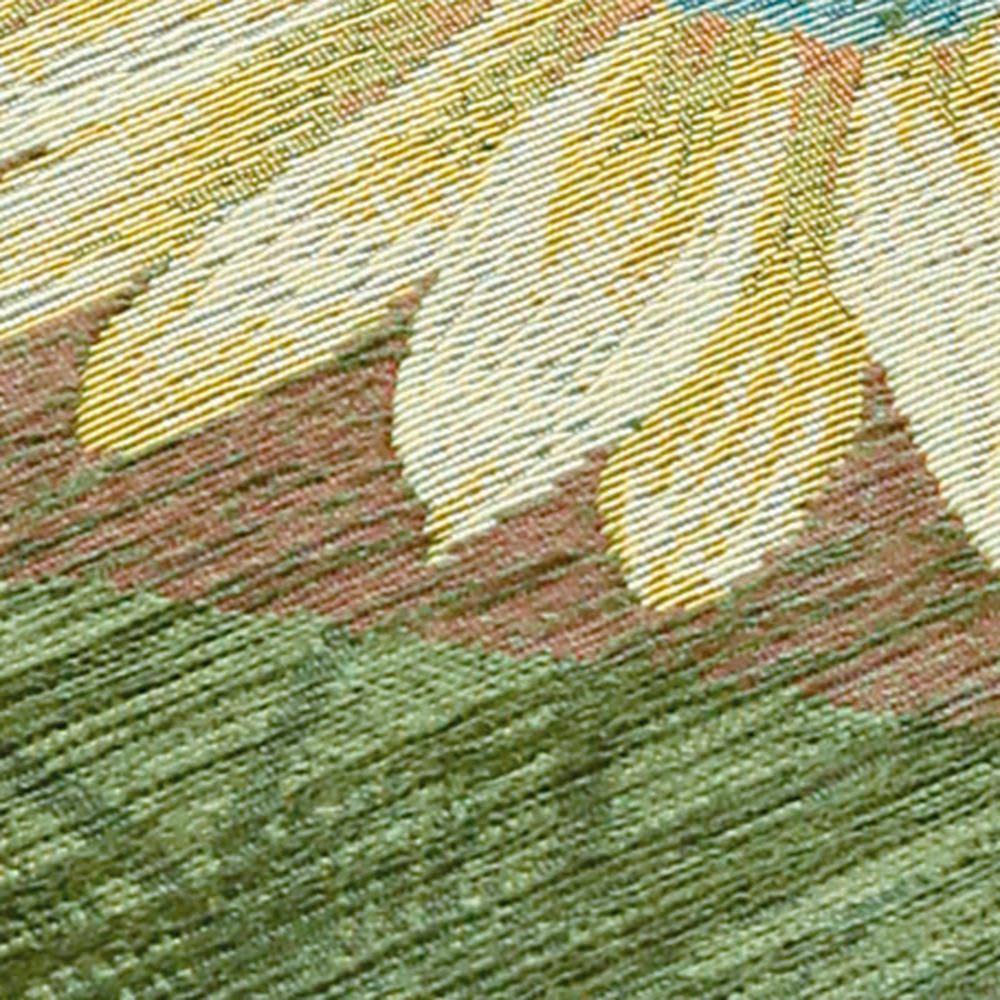 イタリア製シートクッション〈マーガレット〉 素材アップ (イ)グリーン