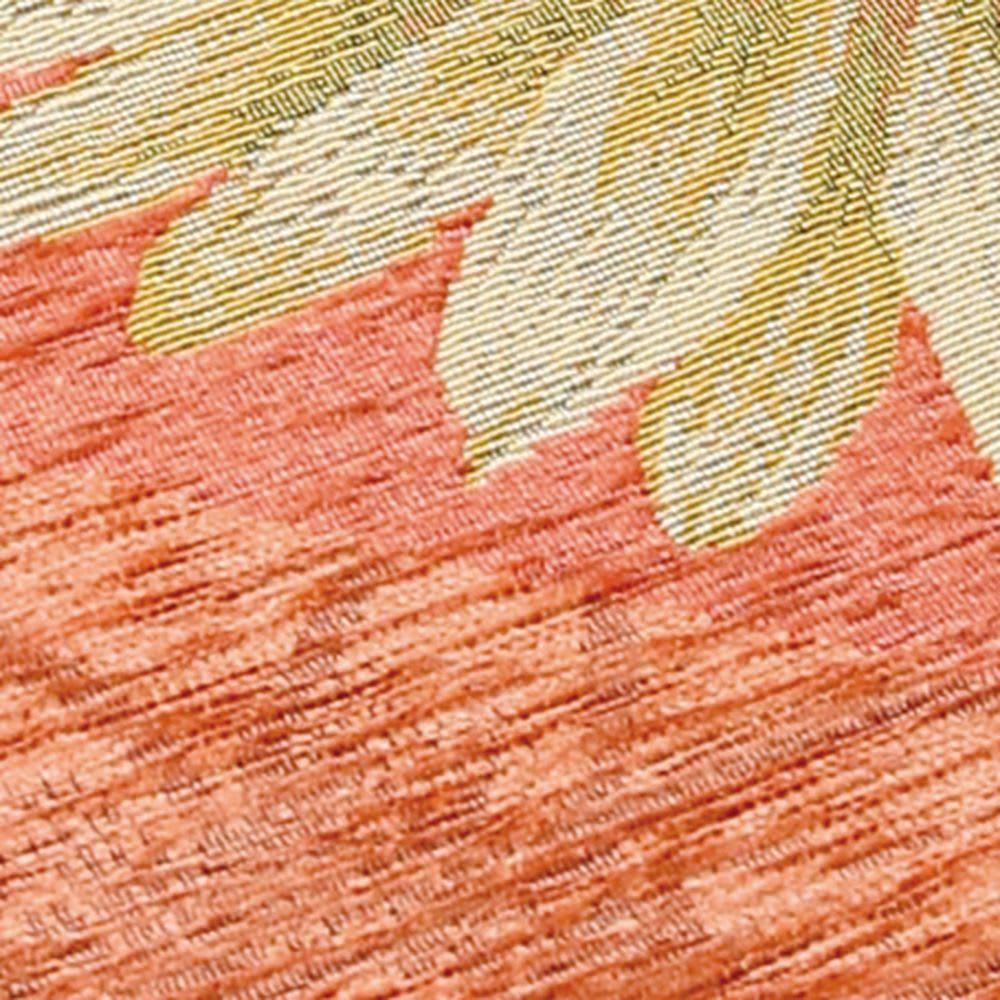 イタリア製シートクッション〈マーガレット〉 素材アップ (ウ)オレンジ