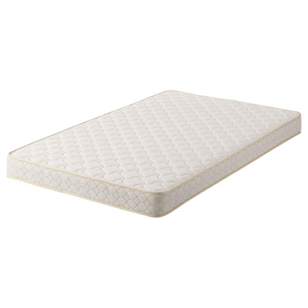 フランスベッド 天然木棚付き引き出しベッド マルチラススーパースプリングマットレス付き マットレスはマルチラススプリングマットレス。しっかりやや硬めの寝心地です。