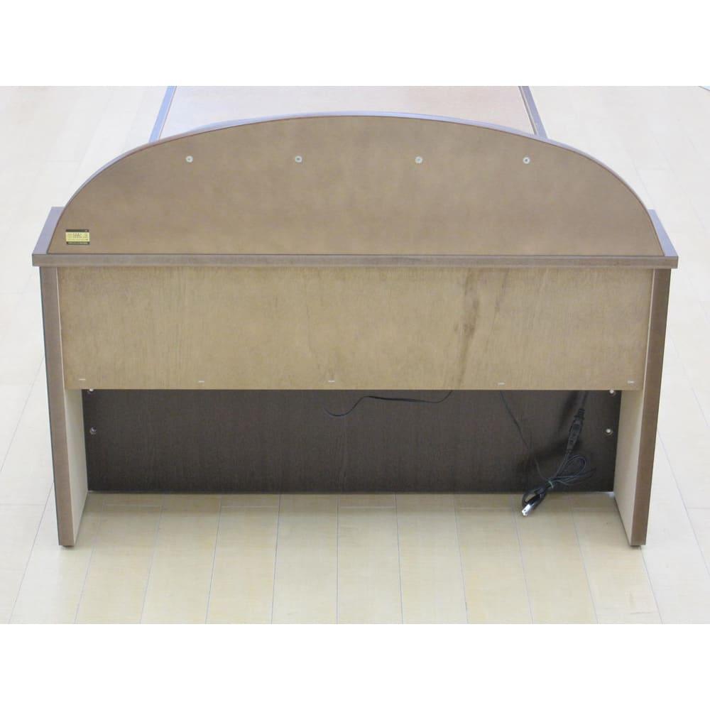 フランスベッド 棚・照明付ベッド 羊毛入りマルチラススーパースプリングマットレス付き 背面