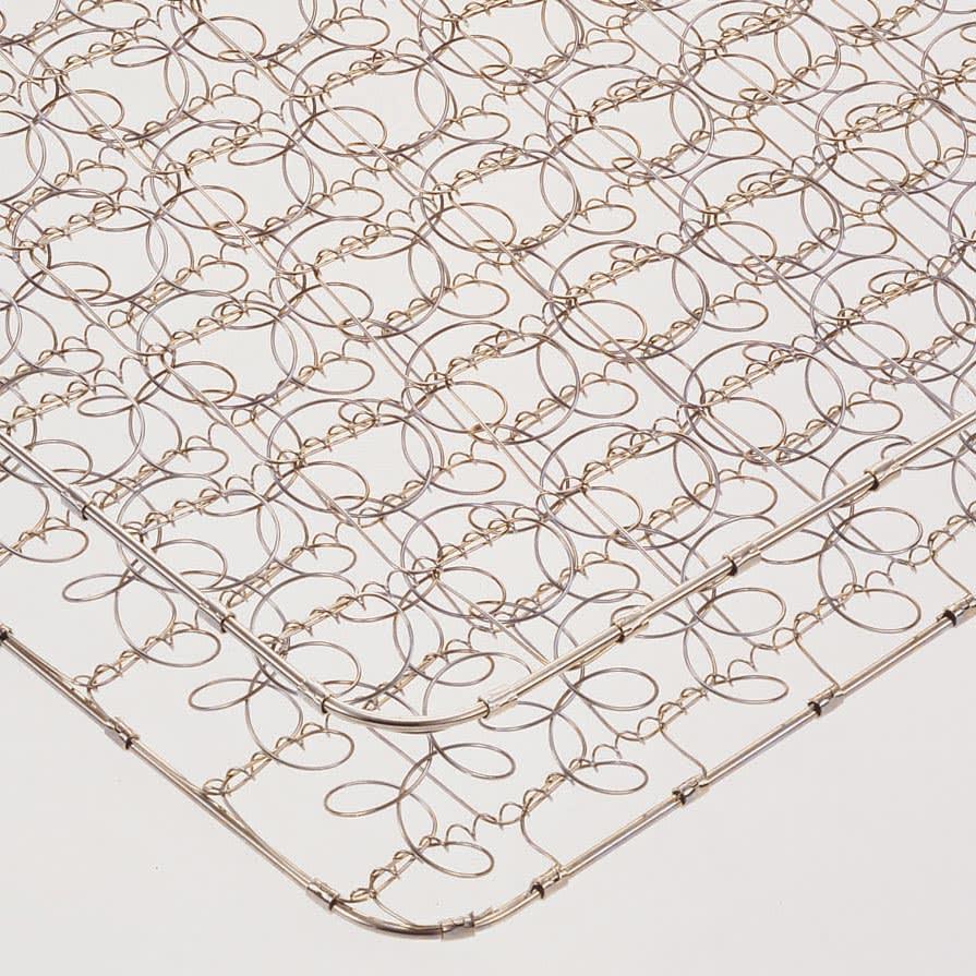 フランスベッド 棚・照明付ベッド 羊毛入りマルチラススーパースプリングマットレス付き 高密度にコイルを編み込み体が沈み込まない十分な硬さと耐久性を実現。マットの中身が中空なので軽量で扱いやすく、通気性に優れています。