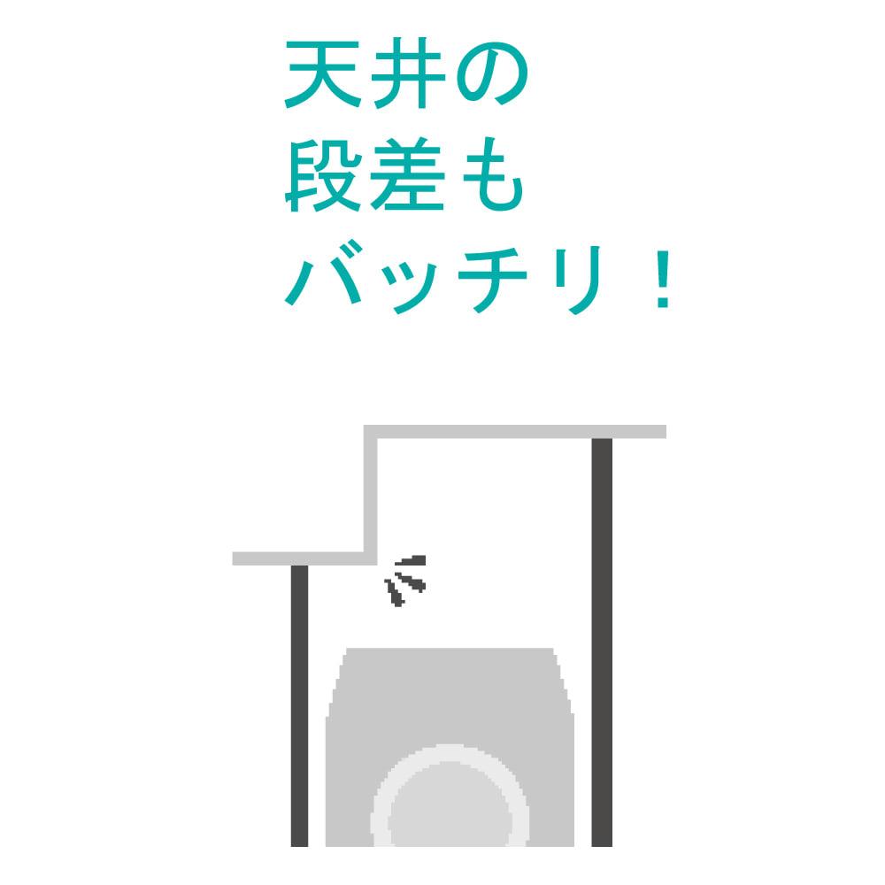 洗濯機パンに収まる 段差対応ランドリーラック 棚2段・バスケット2個