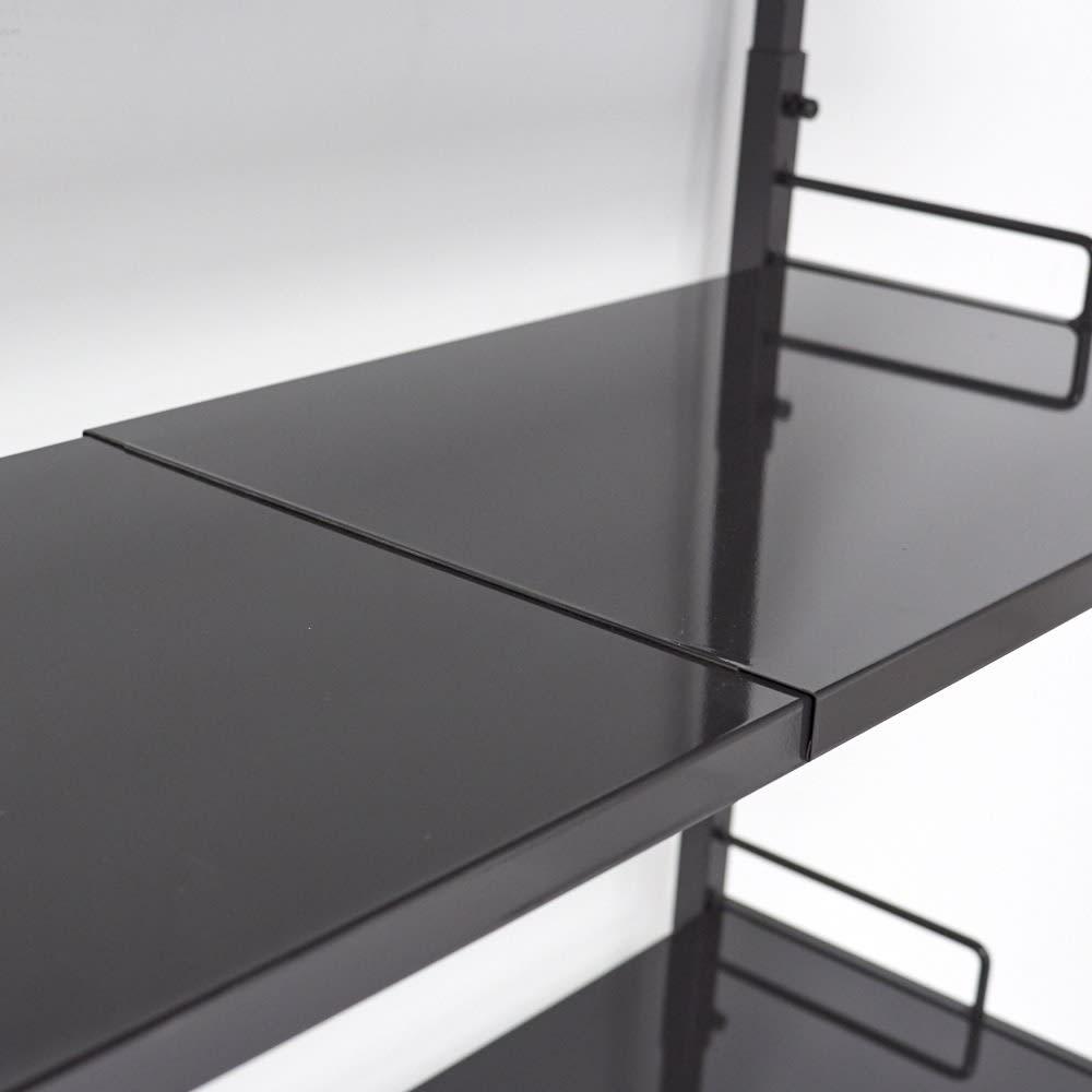 Ventol(ヴェントル) ランドリーラック 棚3段 棚板も幅が伸縮します。隙間ができないのが魅力です。