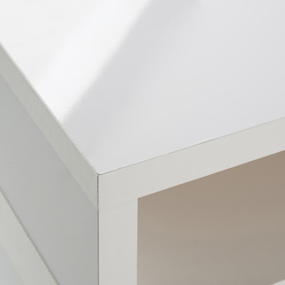 お部屋に合わせてぴったり 伸縮式オープンテレビ台(幅105cm~168cm) つややかな光沢が美しい(イ)ホワイト