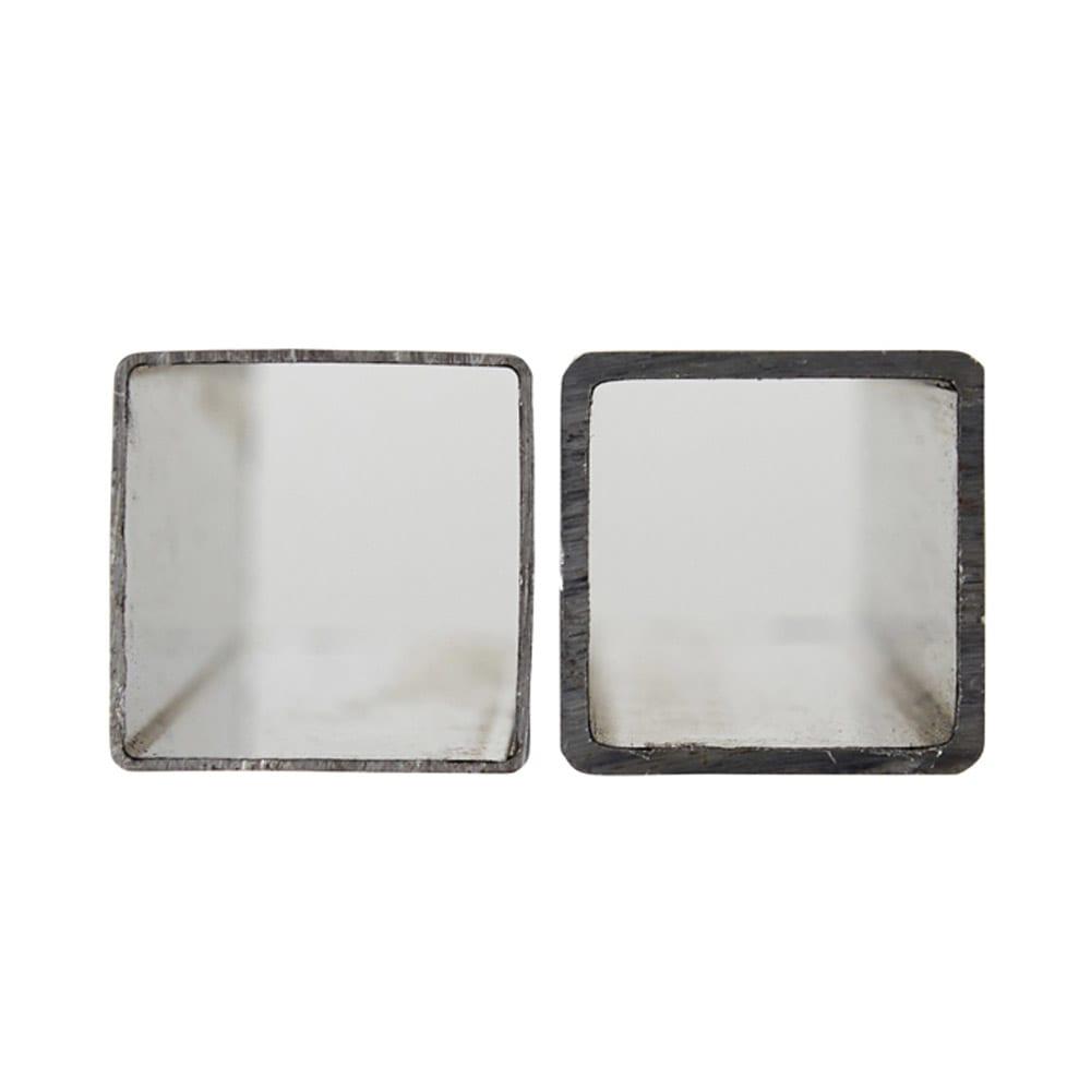 プロ仕様 頑丈ハンガーラック「リモニ」 ダブルタイプ・幅70cm (左:通常品)厚さ0.8mm (右:本品)厚さ1.4mm 洗練された印象のスクエアパイプながら、厚みを増すことにより強度を出しています。