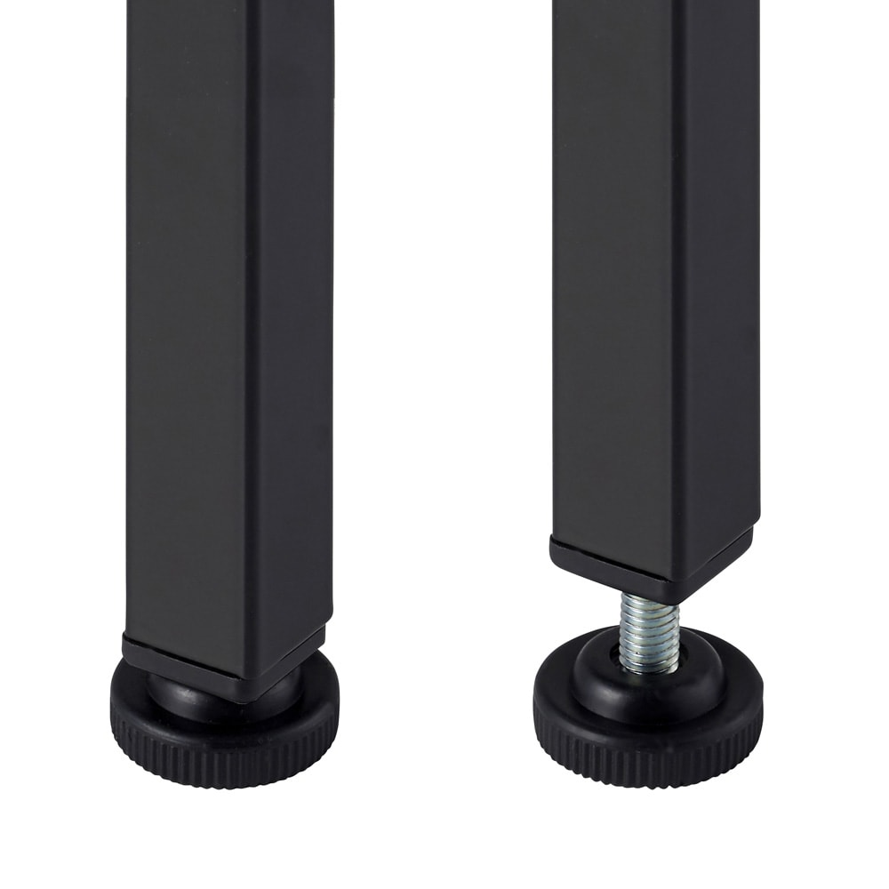木目調収納ラック幅50cm奥行36cm アジャスター付きでがたつきを軽減。