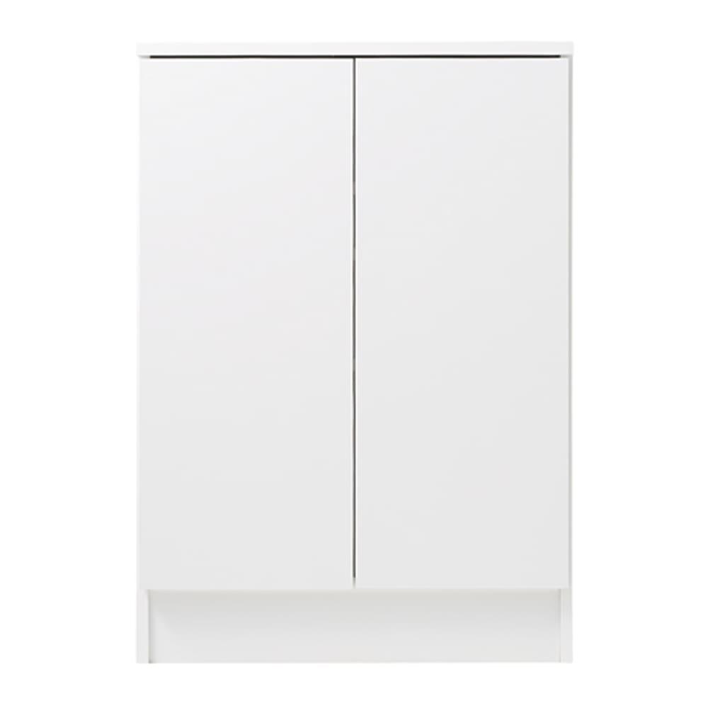 扉つきカウンター下収納 幅59cm(2枚扉) (ア)ホワイト色