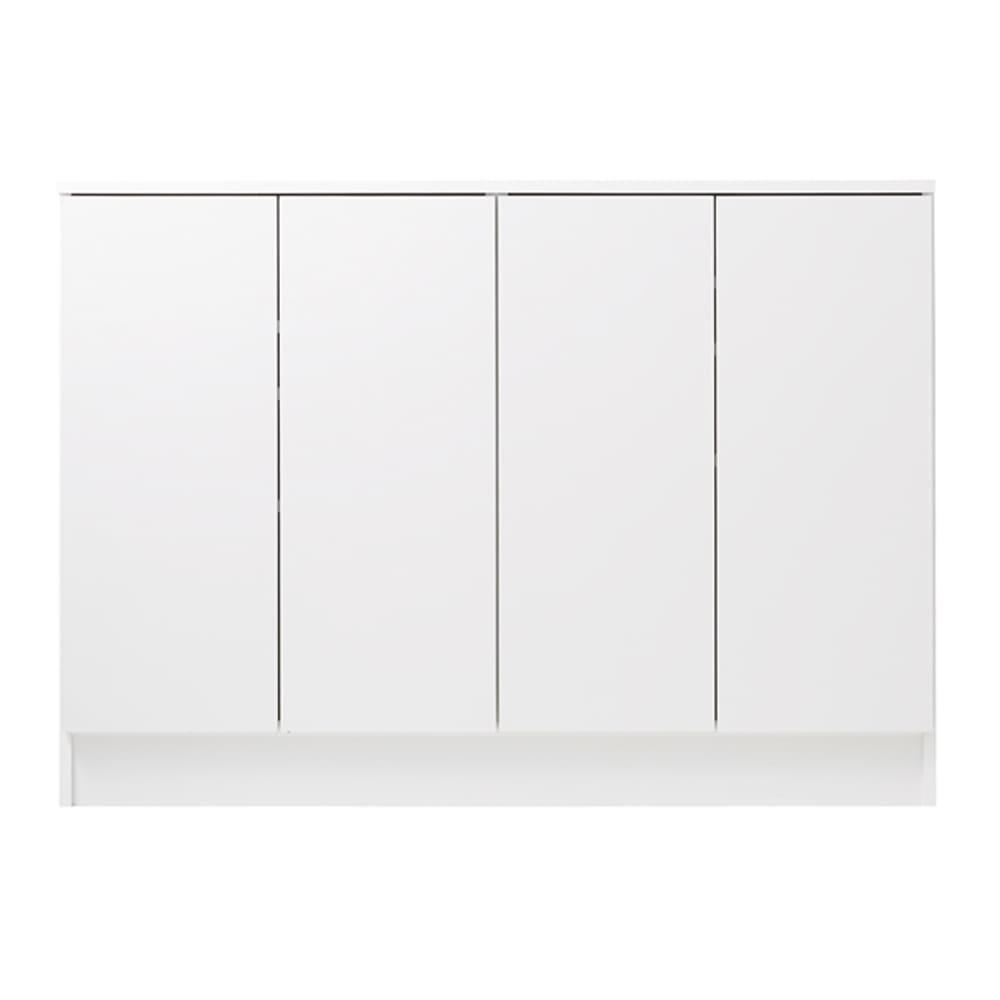 扉つきカウンター下収納 幅119cm(4枚扉) (ア)ホワイト