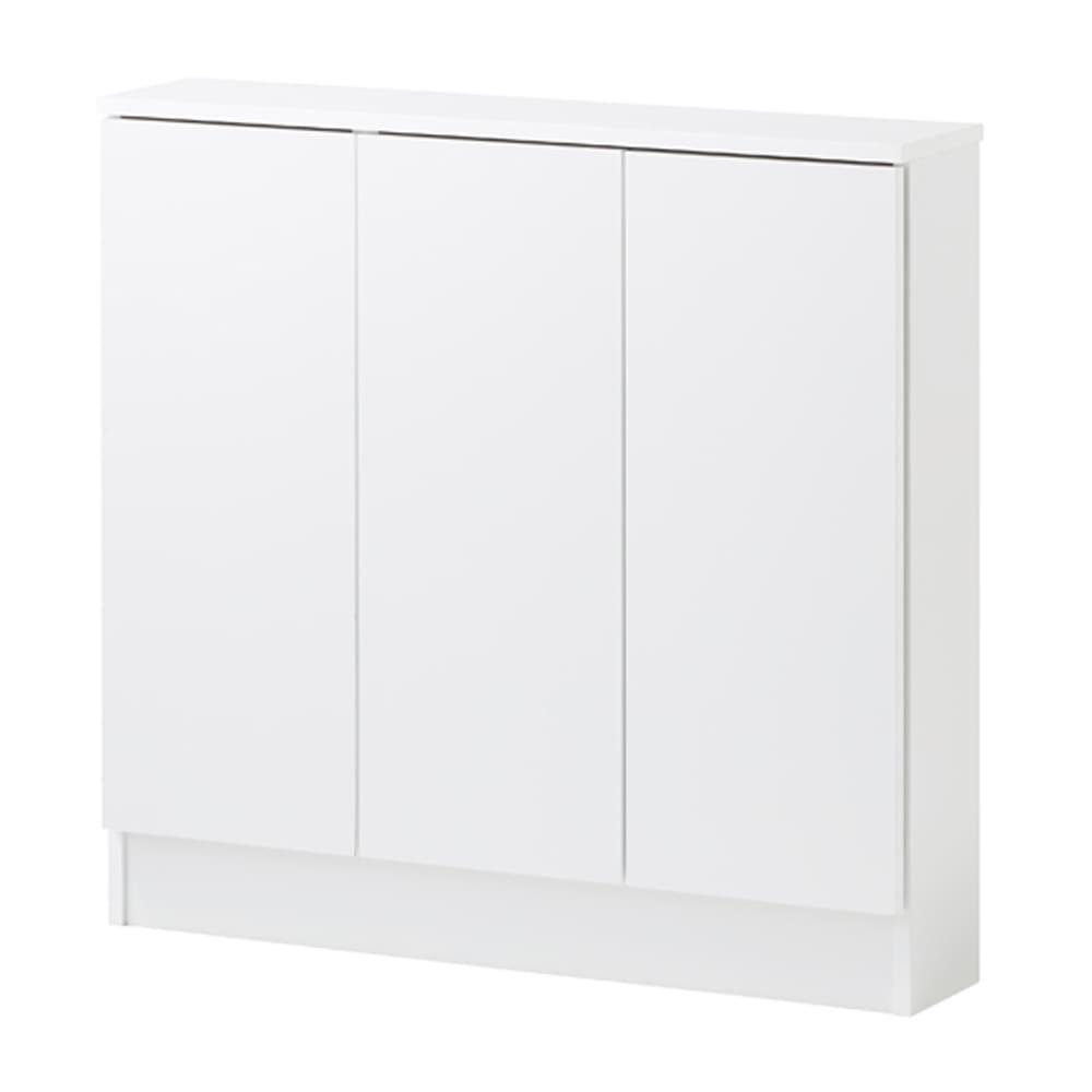 扉つきカウンター下収納 幅89cm(3枚扉) 清潔感があり美しい(ア)ホワイト色
