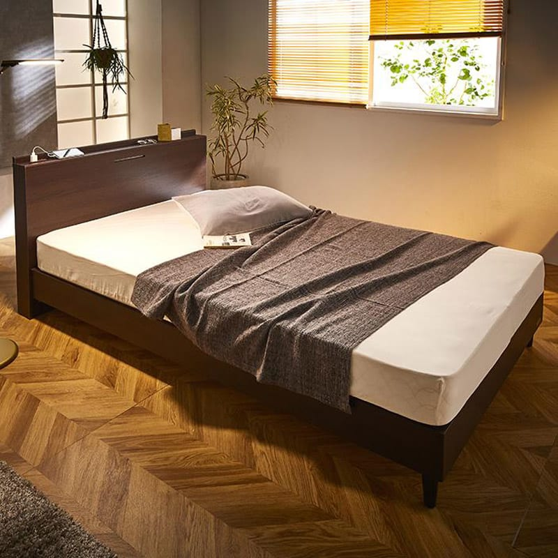 FranceBed/フランスベッド 棚照明マットレス付きベッド