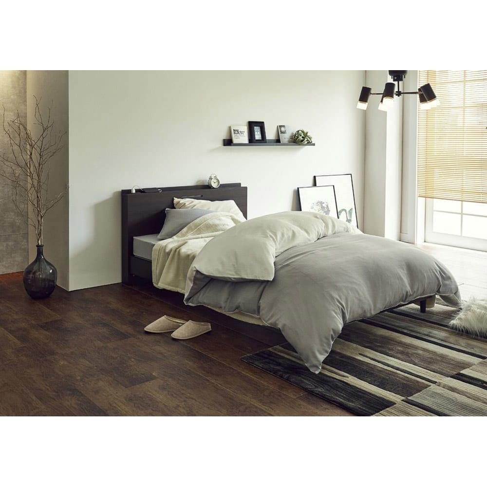 FranceBed/フランスベッド 棚照明マットレス付きベッド コーディネート例