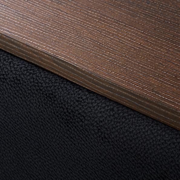 Katevasoh/カテバソー 収納付きマルチソファベッド (ア)ブラック 肘部分アップ
