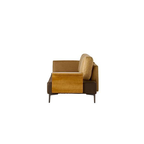 Turkut/トゥルク サイドテーブル付きソファベッド ソファ時 横