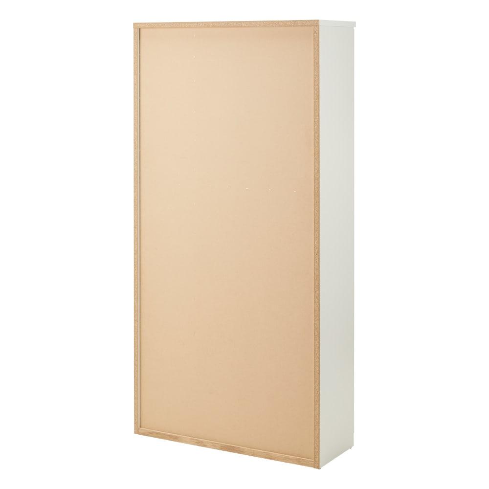 調湿機能のモイス付きシューズボックス 幅90cm・高さ181cm(ハイタイプ) (ア)ホワイト 背面