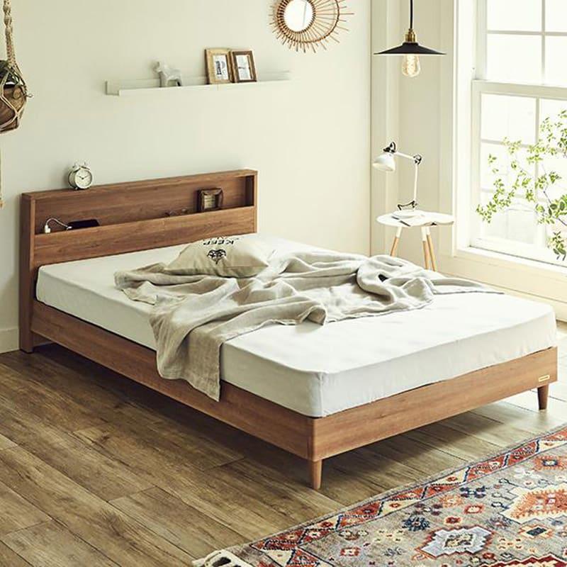 FranceBed/フランスベッド LED照明コンセントマットレス付ベッド コーディネート例(イ)ナチュラル