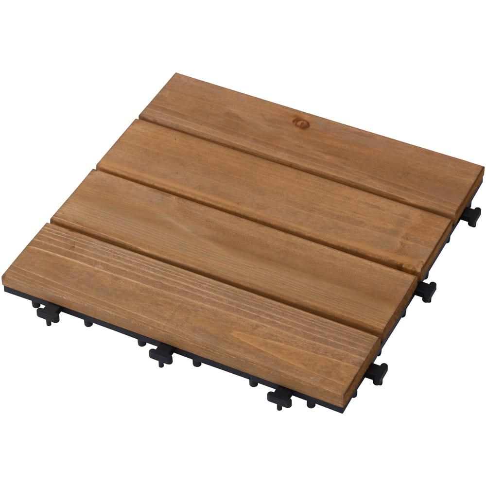 敷くだけ天然木デッキ18枚組 1枚:30cm×30cm