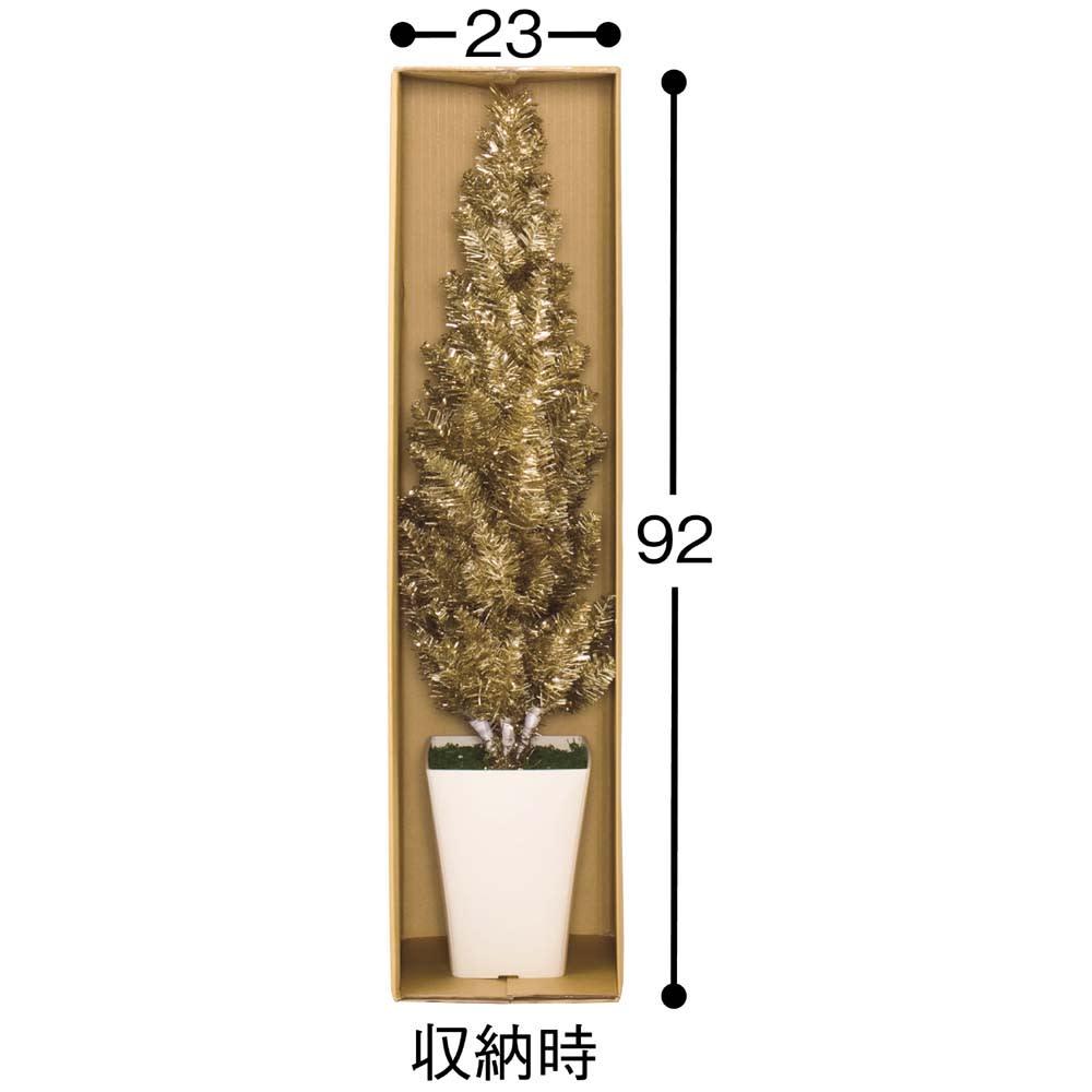 CT触媒 Xmasツリー 高さ約100cm オフシーズンはお届け時の段ボールにコンパクトに収納できます。